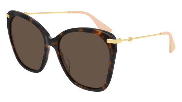 Gucci - GG0510S 56mm Havana Sunglasses / Brown Lenses