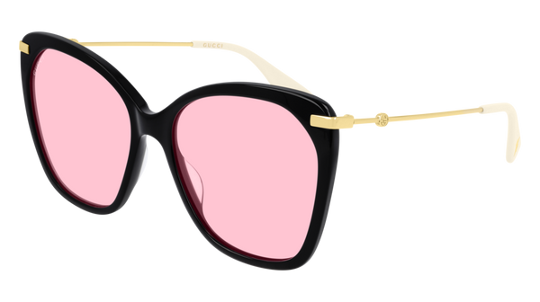 Gucci - GG0510S 56mm Black Sunglasses / Pink Lenses