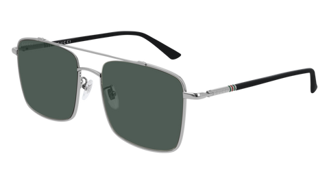 Gucci - GG0610SK 56mm Ruthenium Sunglasses / Green Lenses