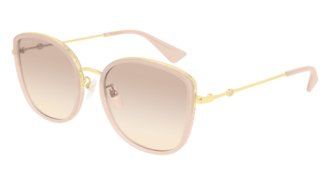 Gucci - GG0597S 55mm Beige Sunglasses / Brown Lenses