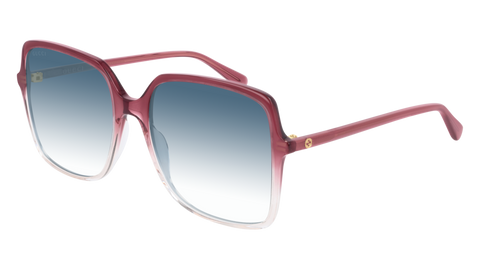 Gucci - GG0544S 57mm Red Sunglasses / Blue Lenses