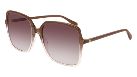 Gucci - GG0544S 57mm Brown Sunglasses / Violet Lenses