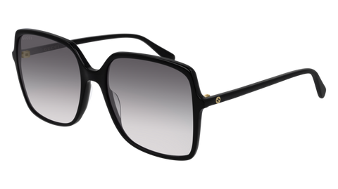 Gucci - GG0544S 57mm Black Sunglasses / Grey Lenses