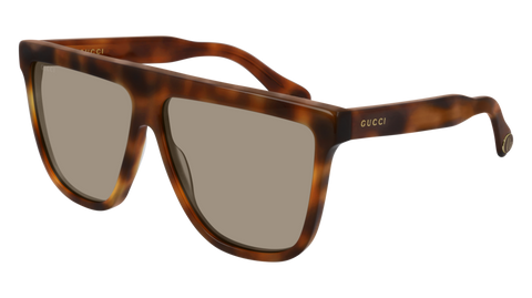 Gucci - GG0582S 61mm Havana Sunglasses / Brown Lenses