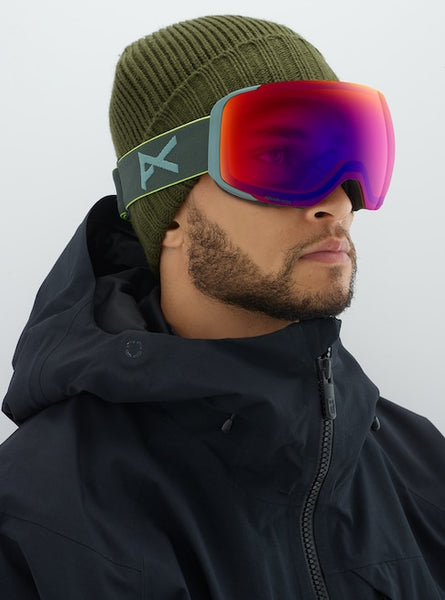 Anon - Men's M2 MFI Lightweight Neck Warmer Gray Pop Snow Goggles / Sonar Infrared Blue +  Spare Sonar Silver Lenses