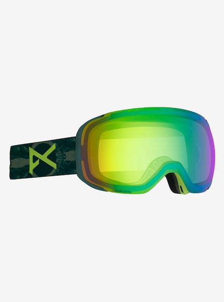 Anon - Men's M2 MFI Lightweight Neck Warmer Deer Mountain Snow Goggles / Sonar Green + Spare Sonar Smoke Lenses