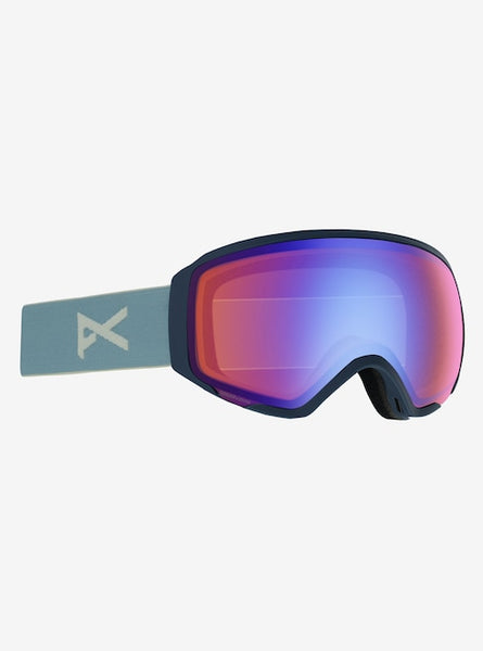 Anon - Women's WM1 MF1 Lightweight Neck Warmer Slate Snow Goggles / Sonar Blue + Spare Sonar Silver Lenses