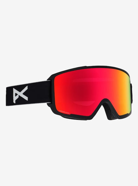 Anon - Men's M3 MFI Lightweight Neck Warmer Black Snow Goggles / Sonar Red + Spare Sonar Blue Lenses