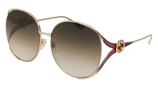 Gucci - GG0225S Gold Sunglasses / Brown Gradient Lenses