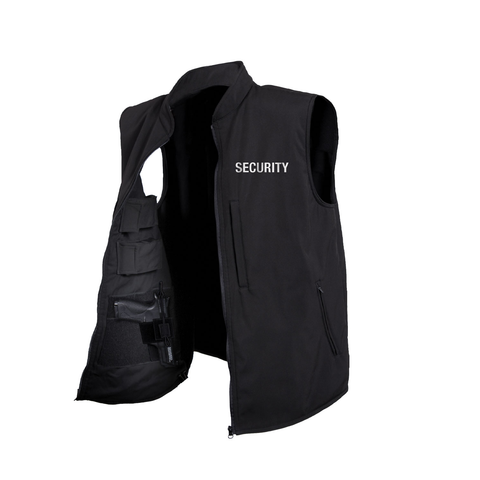 Rothco - Concealed Carry Soft Shell Security Black Vest
