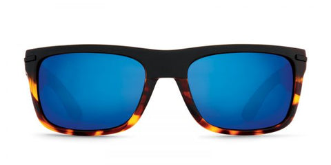 Kaenon - Burnet Matte Black Tortoise Sunglasses / G12 Pacific Blue Mirror Lenses