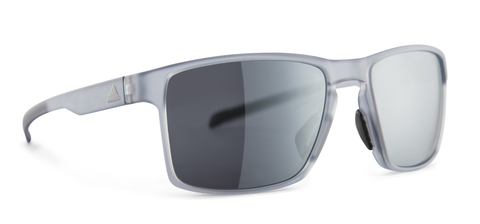 Adidas - Wayfinder Grey Transparent Sunglasses / Chrome Mirror Lenses