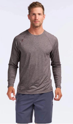 Rhone - Reign Black Coffee Heather Long-Sleeve