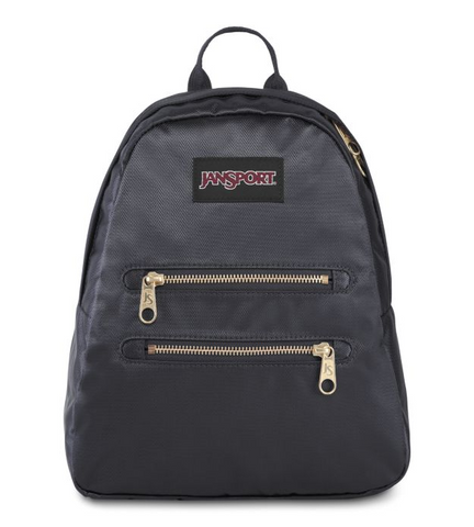 JanSport - Half Pint 2 FX Deep Grey Gold Premium Poly Mini Backpack