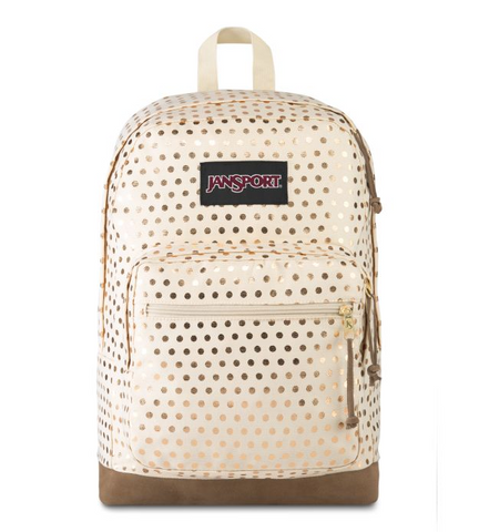 JanSport - Right Pack Expressions Gold Polka Dot Backpack