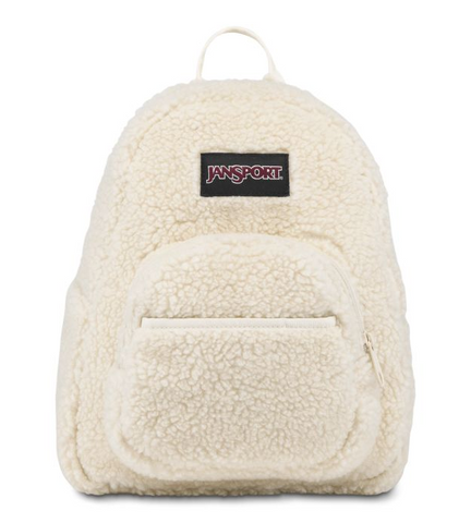 JanSport - Half Pint Soft Tan Sherpa Mini Backpack