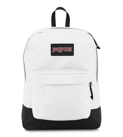 JanSport - Black Label Superbreak White Backpack