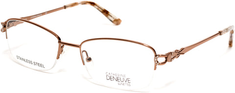 Catherine Deneuve - CD0421 52mm Shiny Light Brown Eyeglasses / Demo Lenses
