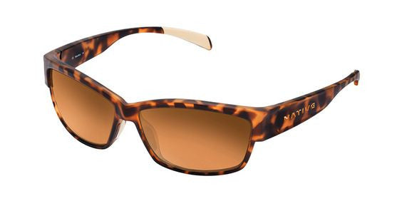 Native - Toolah Desert Tortoise Sunglasses, Bronze Reflex Lenses