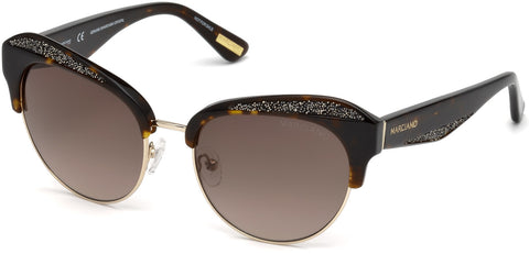 Marciano - GM0777 Dark Havana Sunglasses / Gradient Brown Lenses