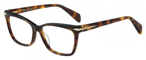 Rag & Bone - Rnb 3021 53mm Dark Havana Eyeglasses / Demo Lenses