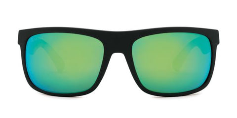 Kaenon Burnet Mid Black Matte Grip Sunglasses / Ultra Coastal Green Lenses