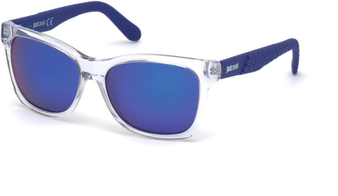 Just Cavalli - JC649S Crystal Sunglasses / Gradient Violet Mirror Lenses