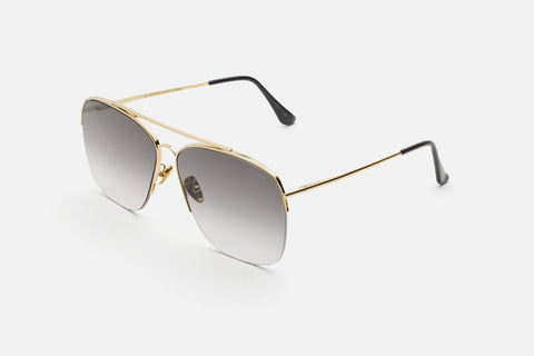 Super - Nazionale 63mm Gold Sunglasses / Black Lenses