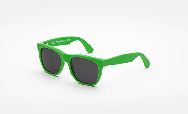 Super - Kids Classics 48mm Green Sunglasses / Black Lenses