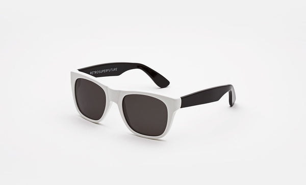 Super - Kids Classics 48mm White Black Sunglasses / Black Lenses