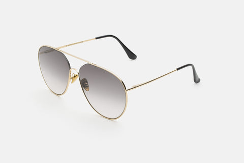 Super - Completo 60mm Gold Sunglasses / Black Lenses