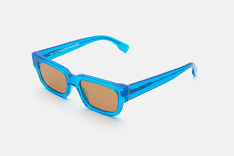 Super - Roma 54mm Blue Sunglasses / Brown Lenses