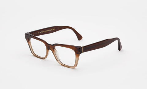 Super - America Faded Bordeaux Crystal 49mm Brown Eyeglasses / Demo Lenses