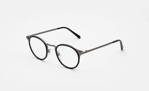 Super - Numero 20 50mm Black Eyeglasses / Demo Lenses