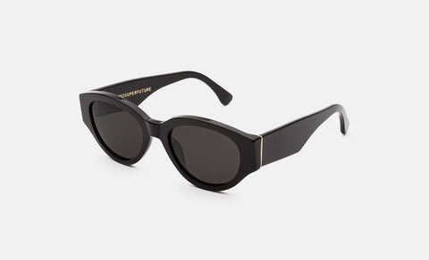 Super - Drew Mama Black Sunglasses / Black Lenses
