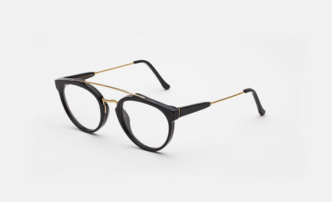 Super - Giaguaro 51mm Black Eyeglasses / Demo Lenses