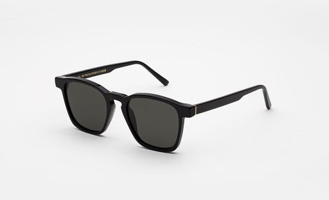 Super - Unico Black Sunglasses / Black Lenses