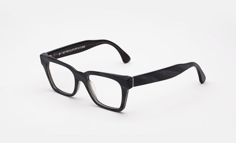 Super - America Black Horn Eyeglasses / Demo Lenses