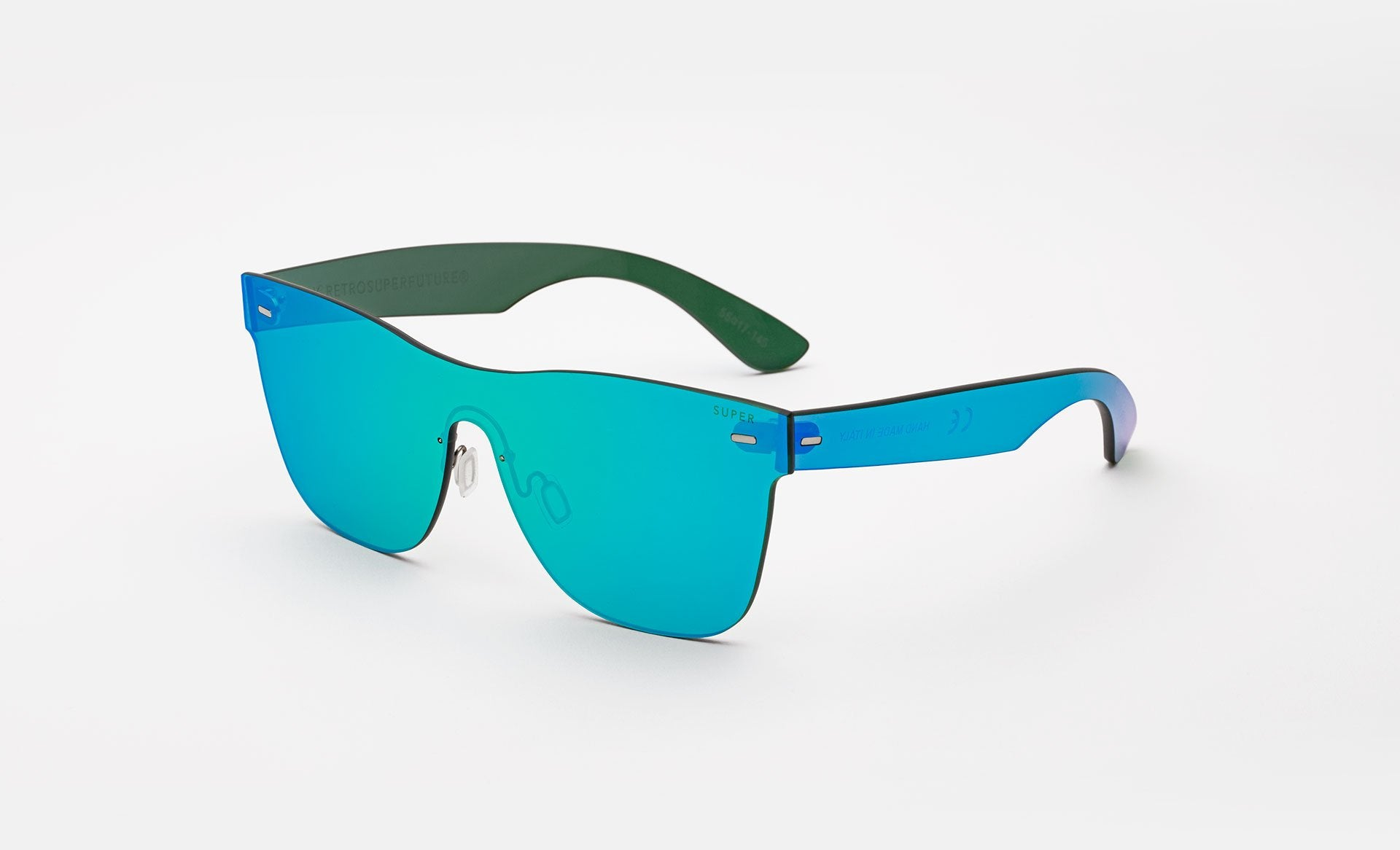 Super - Tuttolente Classic 58mm Blue Sunglasses / Blue Lenses