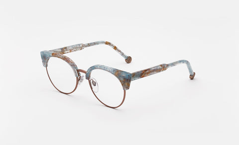 Super - Numero 30 50mm Rose Gold Eyeglasses / Demo Lenses