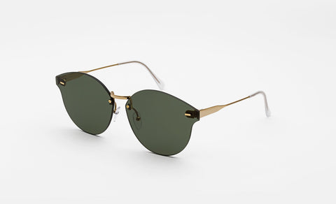 Super - Tuttolente Panama 50mm Gold Sunglasses / Black Lenses