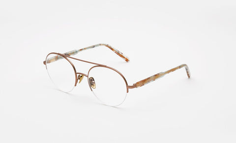 Super - Numero 24 Pink Gold Galvanic Eyeglasses / Demo Lenses