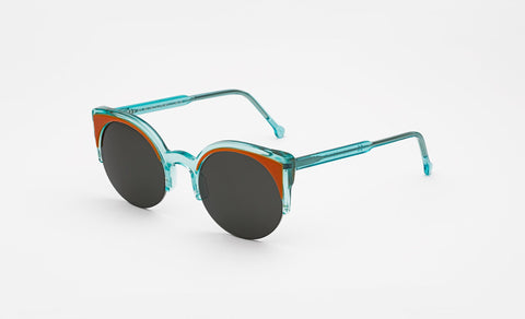Super - Lucia Surface 51mm Teal Sunglasses / Black Lenses