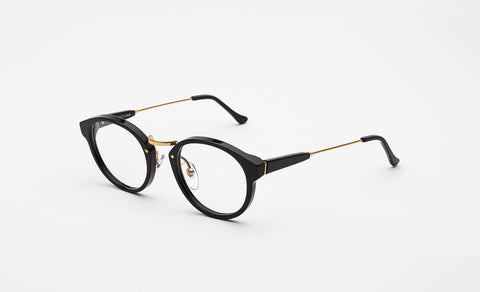 Super - Panama 47mm Black Eyeglasses / Demo Lenses
