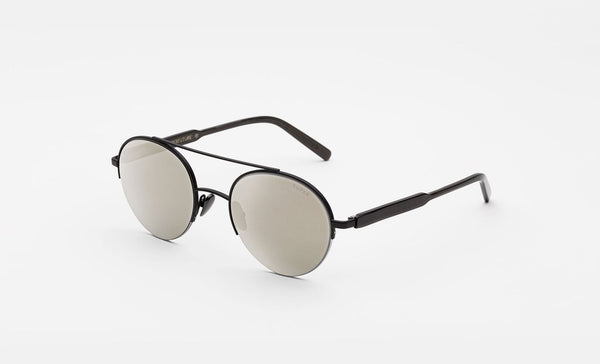 Super - Cooper Black Sunglasses / Monochrome Fade Lenses