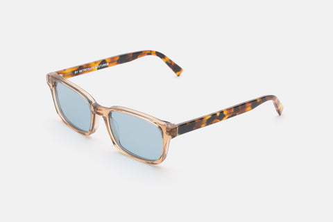 Super - Regola 53mm Havana Sunglasses / Blue Lenses