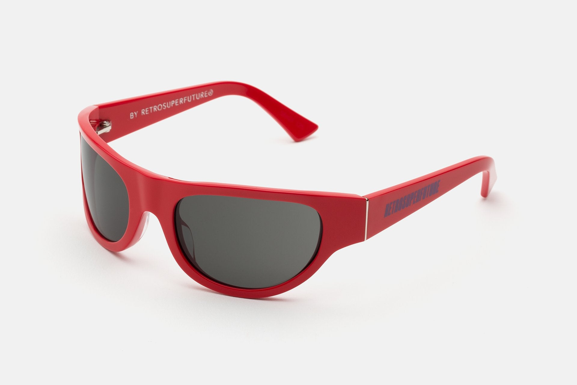 Super - Reed 58mm Red Sunglasses / Black Lenses