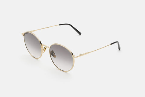 Super - Europa 53mm Gold Sunglasses / Black Lenses
