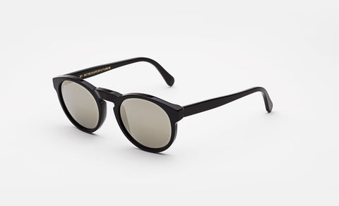 Super - Paloma 52mm Black Sunglasses / Silver Lenses