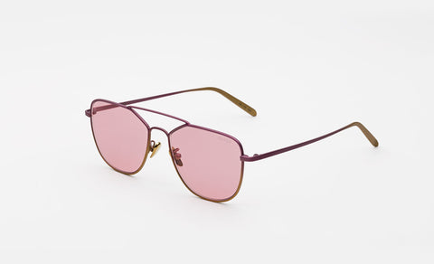 Super - Super for I Visionari 54mm Gold Sunglasses / Pink Lenses